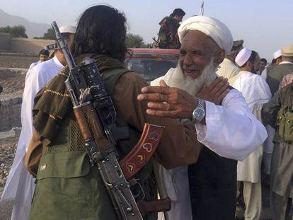Combatientes talibanes, en la provincia de Nangarhar en 2018.