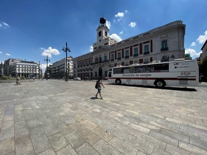 La Puerta del Sol el pasado 10 de julio