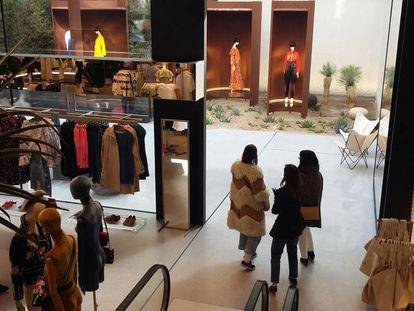 La nueva tienda de Mango en la calle Serrano de Madrid.