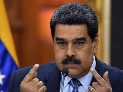 En vídeo, Nicolás Maduro, durante un mensaje al país.