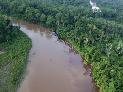 La zona de Morona, afectada por el crudo.