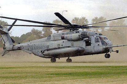 Un CH-53 <i>Stallion</i> como el que se ha estrellado cerca de Jordania.