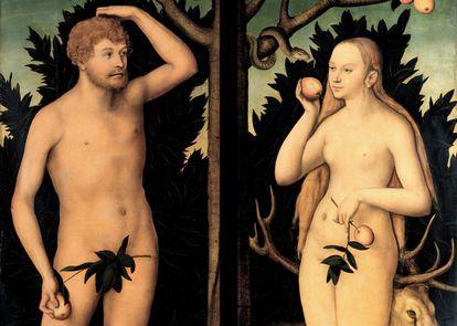'Adán y Eva', de Lucas Cranach el viejo