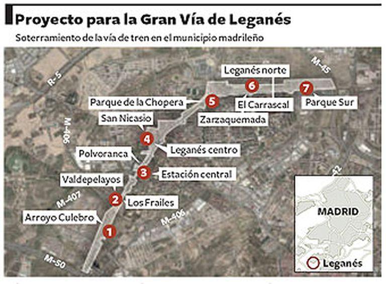 Soterramiento de la vía de tren en el municipio madrileño.