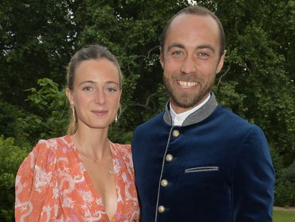 Alizee Thevenet y James Middleton en una gala en Londres en junio de 2021.