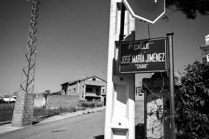 La calle que El Barraco, su pueblo, le dedicó al Chava.