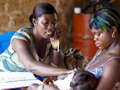 Programa de telemedicina en Ghana.
