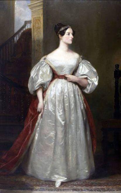 Retrato de Ada Lovelace, realizado por Margaret Carpenter en 1836.