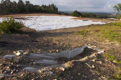 Yacimiento en Lugo afectado por la A-54