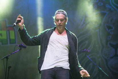 El cantante Matisyahu en el festival Tototom de Benicassim en agosto de 2015, tras la polémica por el veto inicial que sufrió.