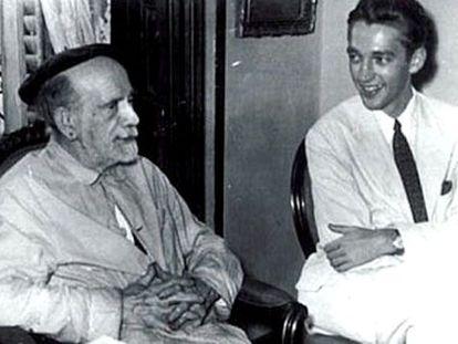 Russell P. Sebold, con Pío Baroja en 1952.