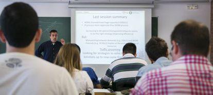 Una clase impartida en inglés en la Universidad Politécnica de Cataluña (UPC).