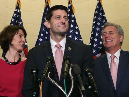 Paul Ryan comparece este miércoles tras ser designado.