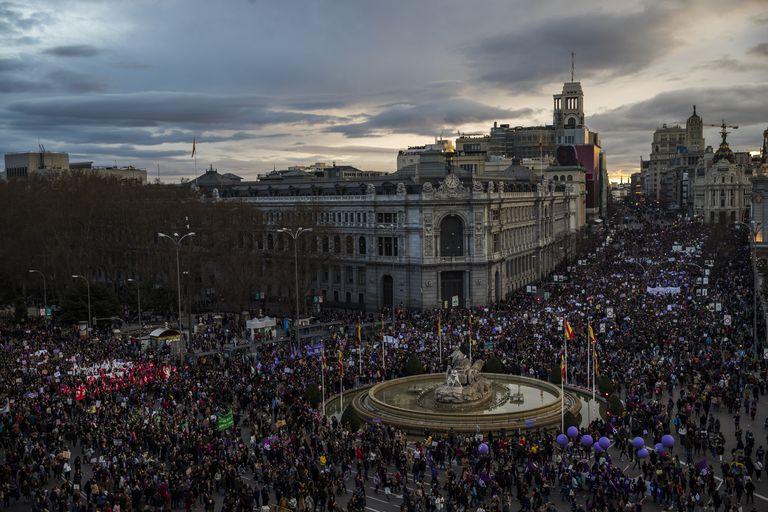 Manifestación del 8-M en Madrid, el pasado marzo.
