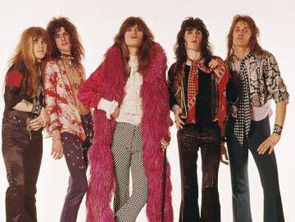 El grupo británico The Hollywood Brats, en 1984.