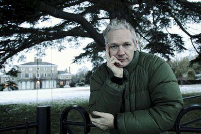 Julian Assange, ayer en la finca de Bungay donde se hospeda.