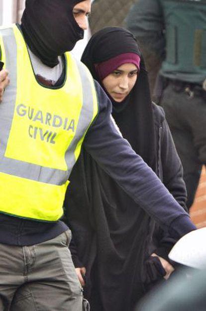 La joven onubense de 22 años detenida cuando intentaba viajar a Turquia.