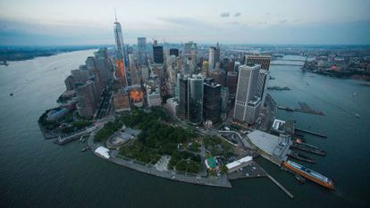 Una perspectiva aérea de la isla de Manhattan tomada el pasado junio.