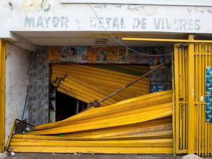 Un supermercado saqueado en Ciudad Bolivar (Venezuela), el 19 de diciembre de 2016.
