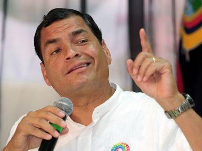 El presidente de Ecuador, Rafael Correa.