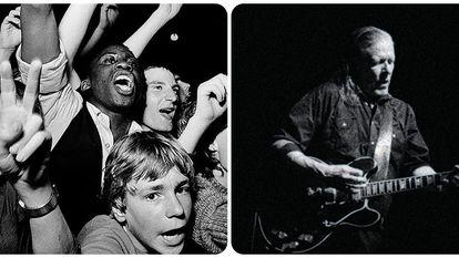 Imágenes de 'White Riot. Rock contra el Racismo' (i) y 'Swans. Where does a body end?' (d), que se presentan esta semana en la Cineteca.