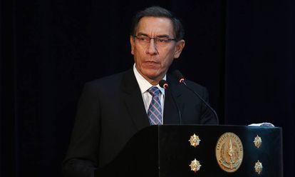 Martín Vizcarra, durante un acto oficial.