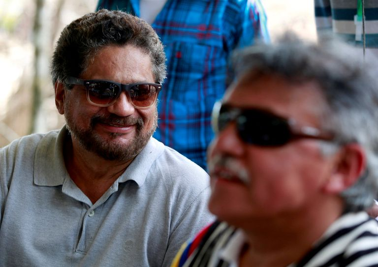 Iván Márquez and Jesús Santrich, former members of the FARC who withdrew from the peace process and are fugitives from justice.