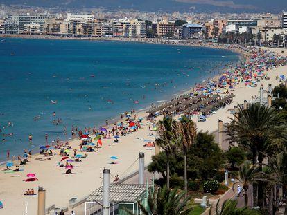 Playa del Arenal, en Palma de Mallorca, en agosto de 2020.