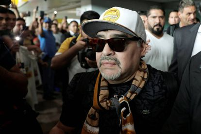 Maradona, a su llegada a Sinaloa.