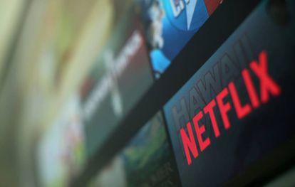 El logo de Netflix, en su sede en Califronia.