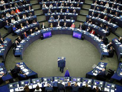 El presidente de la Comisión Europea, Jean Claude Juncker, en el discurso sobre el estado de la UE, el 14 de septiembre.