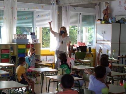 Un colegio de Mairena del Aljarafe (Sevilla), este 10 de septiembre.