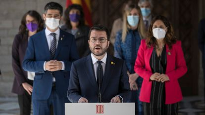 Pere Aragonès ha proclamado su compromiso con los presos del 'procés'.