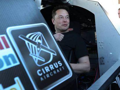 Elon Musk durante una prueba de Hyperloop el pasado fin de semana en Los Ángeles.