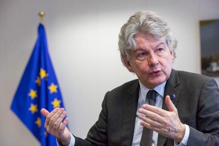 El comisario de Mercado Interior, Thierry Breton, en Bruselas, el mes pasado.