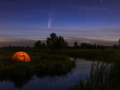 El cometa Neowise C/2020 F3, uno de los más brillantes de la última década.