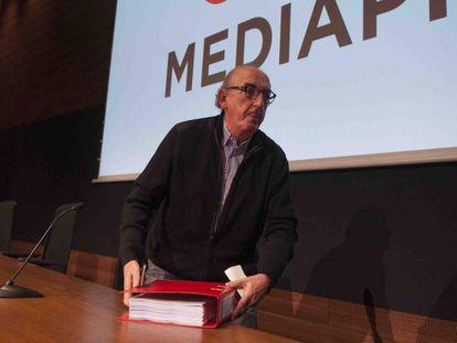 Jaume Roures, en una conferencia de prensa en Barcelona.