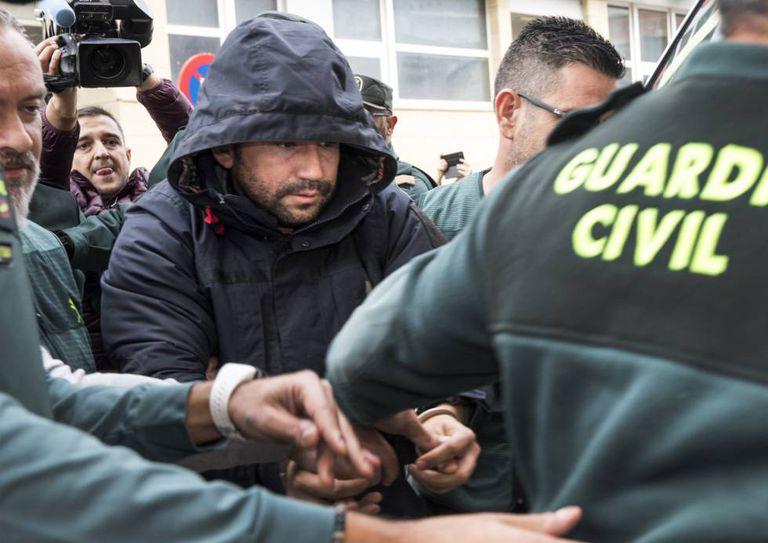 Jorge Ignacio Palma, al entrar en los juzgados de Alzira en diciembre de 2019.