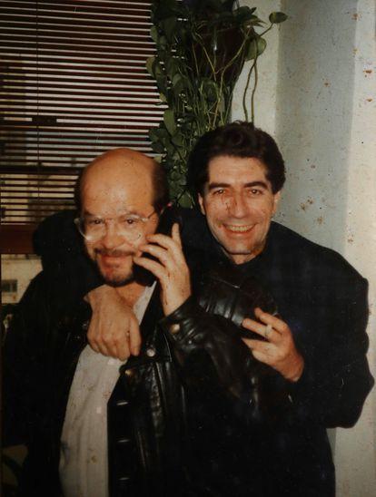 Lucena y Sabina en 1992. Foto cortesía de Paco Lucena.
