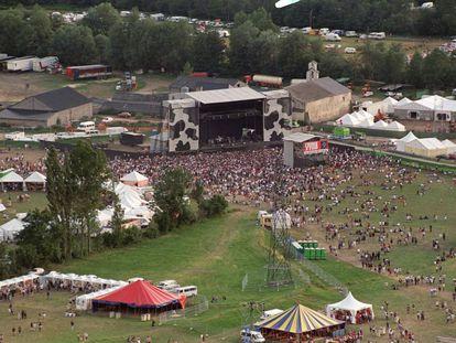 Imagen panorámica de una edición del festival a finales de los ochentas.