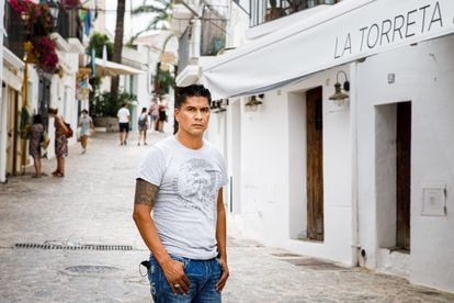 Diego Romero en Ibiza, el pasado jueves.