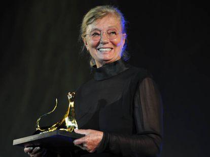 Margaret Menegoz, en el festival de cine de Locarno, en 2013.