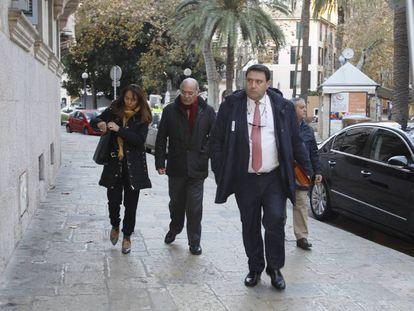 El empresario Gerardo Díaz Ferrán llega el pasado enero a la Audiencia Provincial de Baleares.
