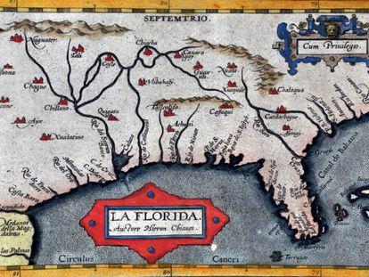 La Florida, en el 'Theatrum Orbis Terrarum' (1584), de Abraham Ortelius.