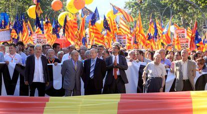 Manifestación en Barcelona contra la sentencia del Estatut, en 2010.