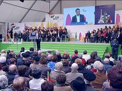 El PNV abre en el Aberri Eguna una nueva vía hacia la nación vasca