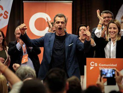 Toni Cantó, tras conocerse los resultados de las elecciones autonómicas.