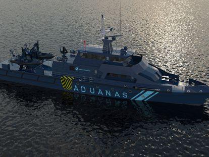 El patrullero 'Cóndor' de Aduanas.