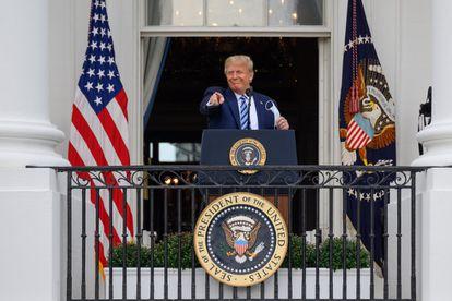 Donald Trump, en el balcón de la Casa Blanca.