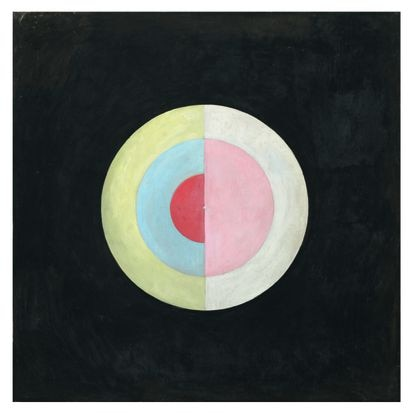 Not The Swan.  16 (1915), one of the abstract works of the Swedish painter Hilma af Klint.